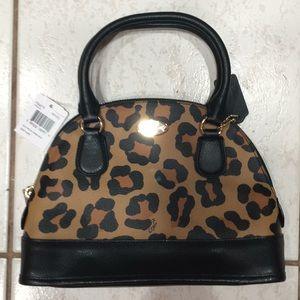Coach leopard satchel